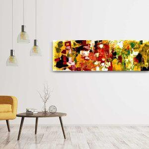 Colorful Bright Abstract Acrylic Painting